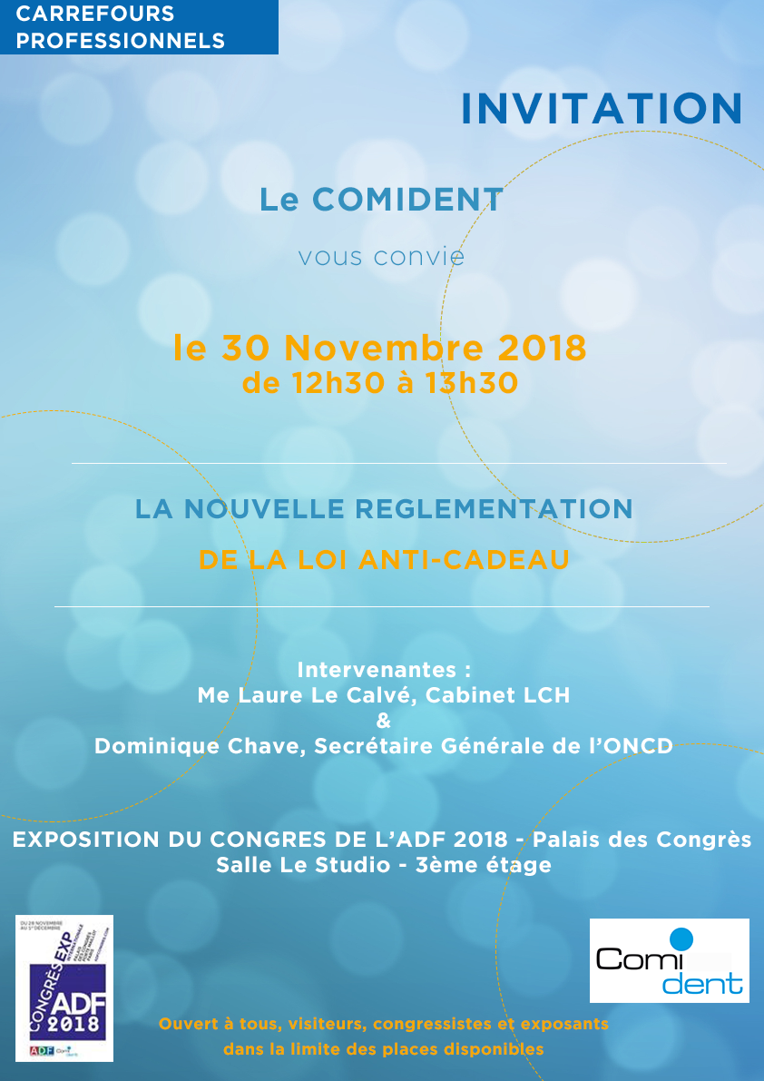 COMIDENT - Invitation session infomation